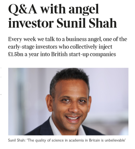 Sunil Shah o2h Ventures The Sunday Times