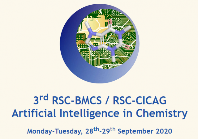 3rd RSC-BMCS / RSC-CICAG Artificial Intelligence in Chemistry symposium